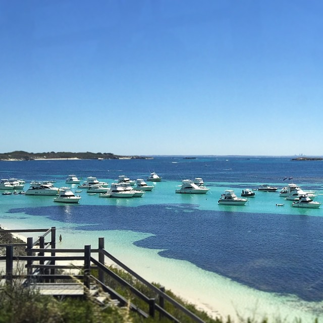 Parker Point on a less windy day than today! rottnestisland