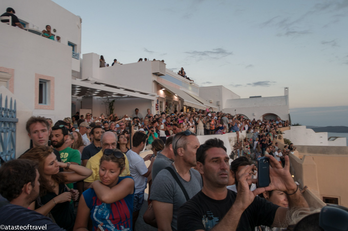Crowds for Sunset in Santorini